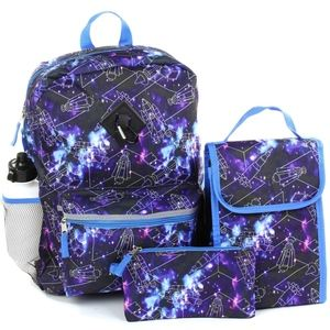 """🎁✨Boys Space 5-Piece Backpack Set. 16""""."""